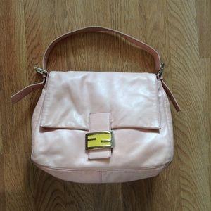 Fendi Pink & Yellow Leather Handbag